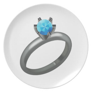 Assiette Bague à diamant - Emoji