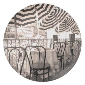 Assiette Balcon étrange de restaurant, Italie