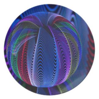 Assiette Beaucoup de couleurs dans le verre