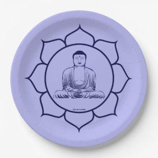 Assiette Bénédiction Bouddha  médecineAlimentation