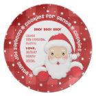 Assiette Biscuits pour Père Noël. La coutume appelle des