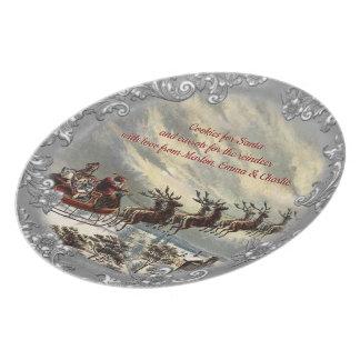 Assiette Biscuits pour Père Noël (personnalisable)