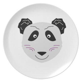 Assiette Blackgrey mignon de petit panda