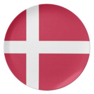 Assiette Bonne copie de drapeau du Danemark de couleur