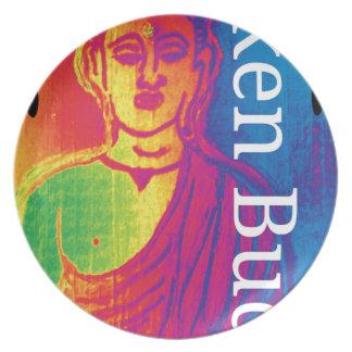 Assiette Bouddha cassé au néon