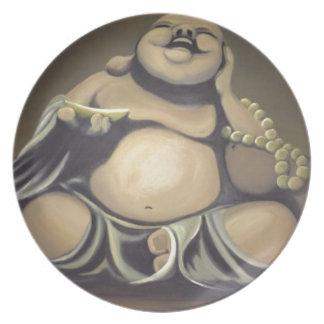 Assiette Bouddha riant