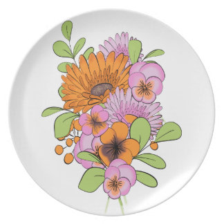 Assiette Bouquet de fleurs