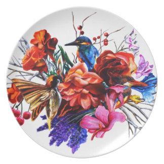 Assiette Bouquet d'oiseau