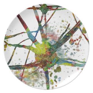 Assiette Cadeau abstrait médical de synapses