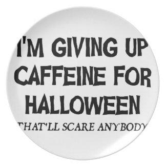 Assiette Caféine pour Halloween