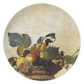 Assiette Caravaggio - panier de fruit - illustration