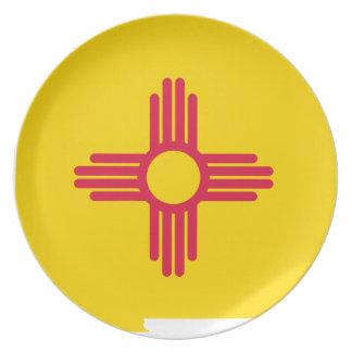 Assiette Carte de drapeau du Nouveau Mexique