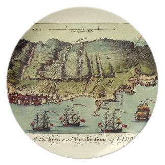 Assiette Carte du Gibraltar 1765