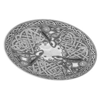 Assiette Celtic, lièvre de observation de lune