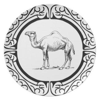 Assiette cercle du chameau