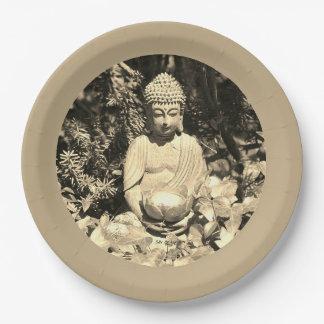 Assiette Chargée Bénédiction Bouddha Alimentation
