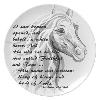 Assiette Cheval blanc d'un roi