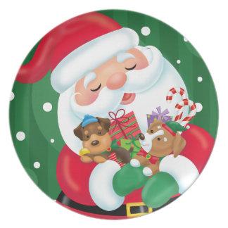 Assiette Chiots pour Noël