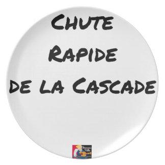 Assiette CHUTE RAPIDE DE LA CASCADE - Jeux de mots