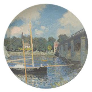 Assiette Claude Monet | le pont à Argenteuil