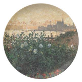Assiette Claude Monet - rive fleurie Argenteuil