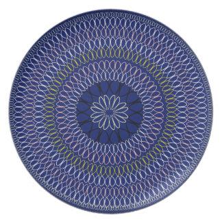 Assiette Collection de Boho d'Africain - plein cercle