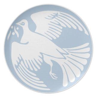 Assiette colombe de paix
