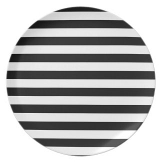 Assiette Conception barrée par | noire et blanche de rayure