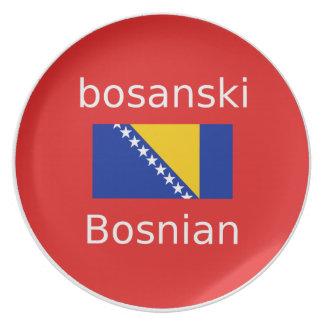 Assiette Conception bosnienne de langue