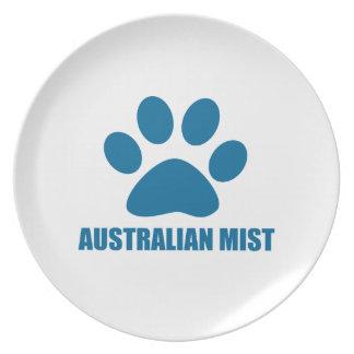 ASSIETTE CONCEPTIONS AUSTRALIENNES DE CAT DE BRUME