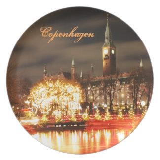 Assiette Copenhague, Danemark à Noël