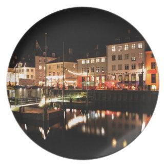 Assiette Copenhague la nuit