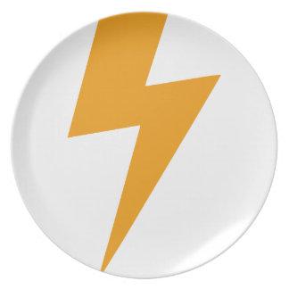Assiette Copie de jaune d'énergie de tonnerre