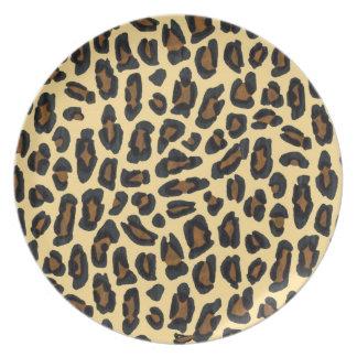 Assiette Copie d'or de fourrure de léopard