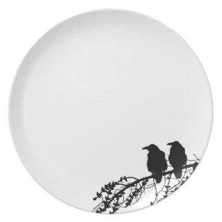 noir et blanc assiettes noir et blanc assiettes design. Black Bedroom Furniture Sets. Home Design Ideas