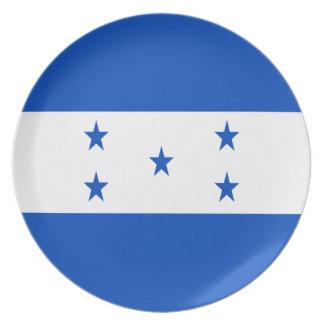Assiette Coût bas ! Drapeau du Honduras