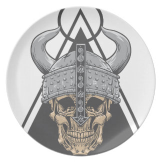Assiette Crâne de Viking