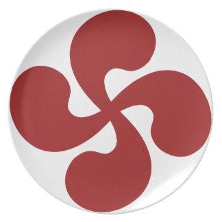 Assiette Croix Basque Rouge Lauburu