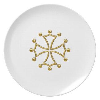 Assiette croix occitane