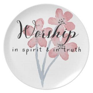 Assiette Culte dans l'esprit et en vérité