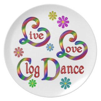 Assiette Danse d'entrave vivante d'amour