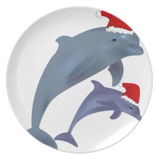 Assiette Dauphin de Noël