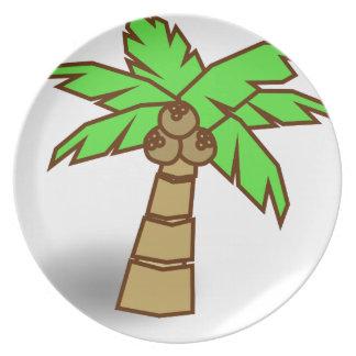 Assiette Dessin de palmier