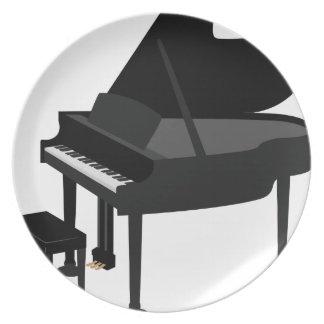 Assiette Dessin de piano à queue