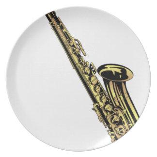 Assiette Dessin de saxophone
