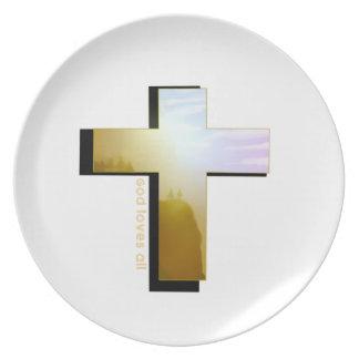 Assiette Dieu aime toute la croix