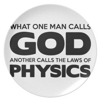 Assiette Dieu ou physique