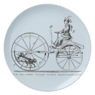 Assiette D'inventions étranges de plat de bicyclette