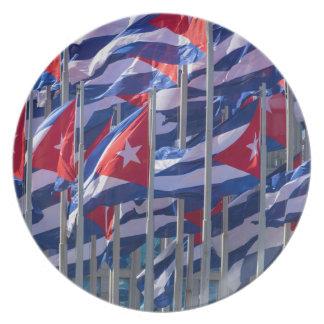 Assiette Drapeaux cubains, La Havane, Cuba