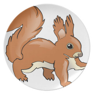 Assiette Écureuil